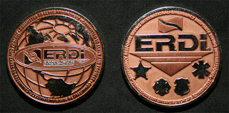 Emergency Response Diving International Challenge Coin, 360-991-2999